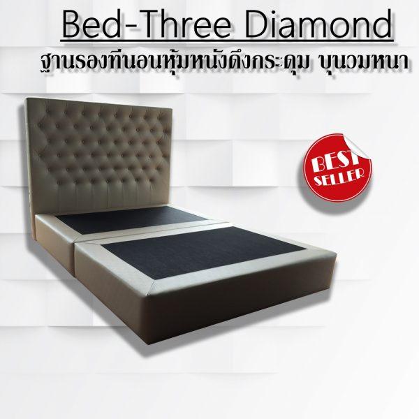 เตียงหุ้มหนังแบบมีหัวเตียง ฐานรองที่นอน เตียงดีไซน์ เตียงสั่งผลิต