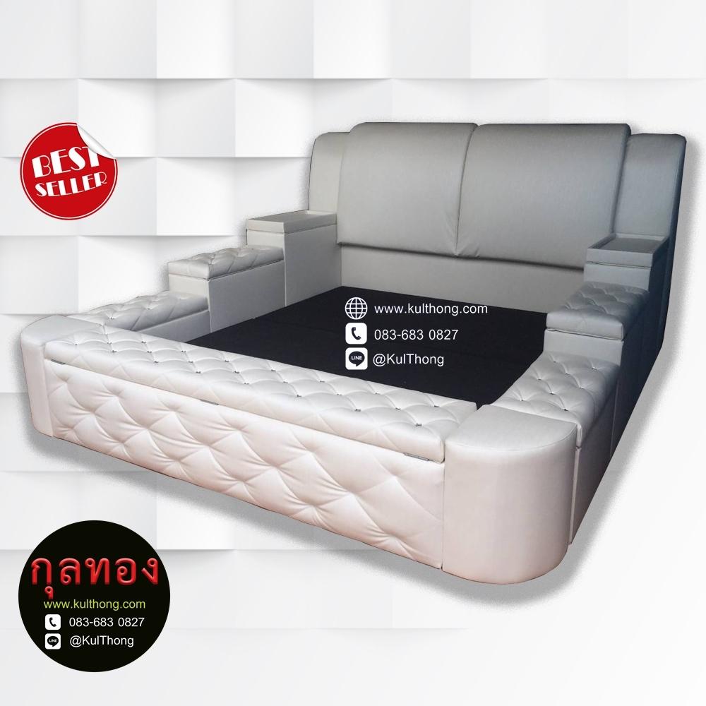 เตียงกล่องเก็บของ เตียงดีไซน์มีกล่อง เตียงกล่อง6ฟุต