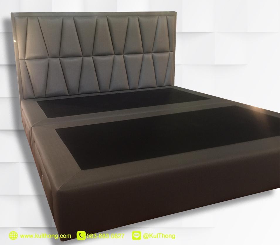 เตียงนอนมีลิ้นชัก ฐานรองที่นอน เตียงหุ้มหนัง เตียงดีไซน์