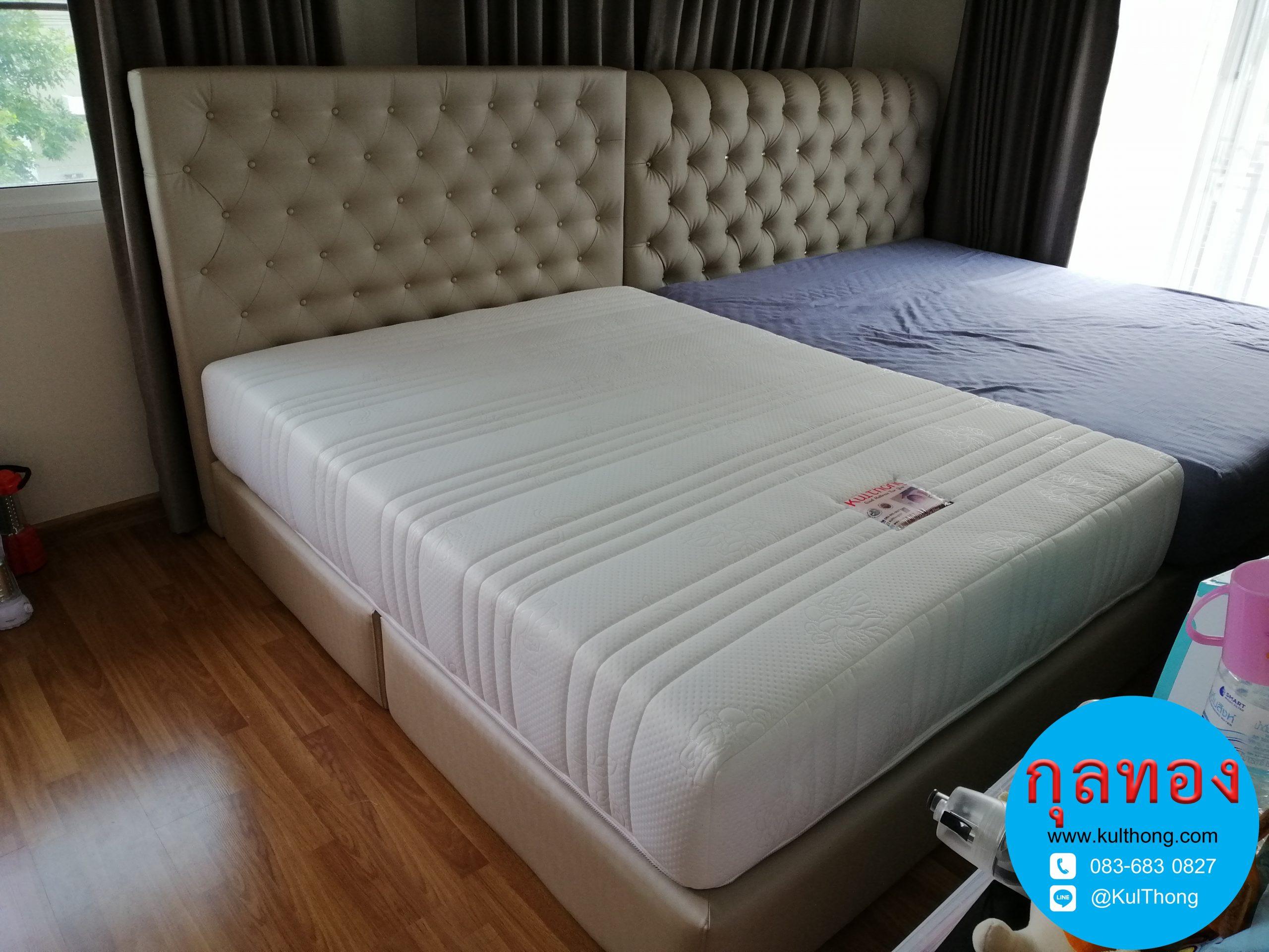 เตียงดึงกระดุม เตียงดีไซน์ เตียงบล๊อค ฐานรองที่นอน เตียงสั่งทำ