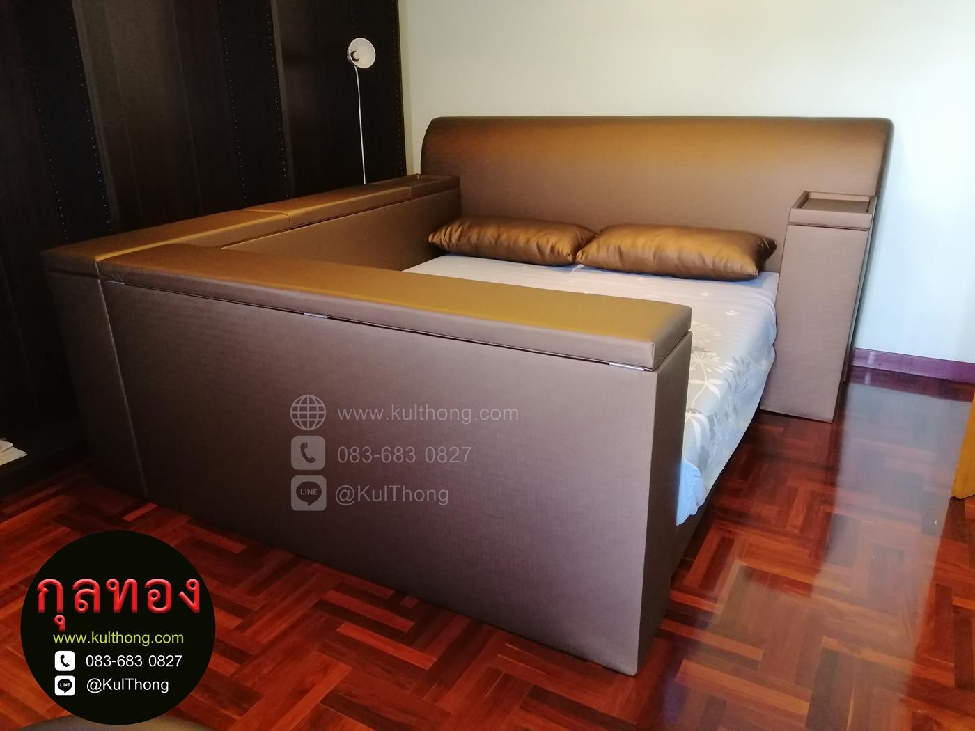 เตียงกล่อง เตียงมีกล่อง เตียงมีฝาเปิด เตียงมีตู้